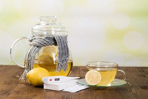 Erkältungstee, Hausmittel gegen Fieber