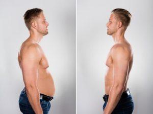 Muskelmasse und Fettanteil