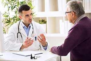 Alter, Demenz, Alzheimer, Diagnose, Mann, Vergessen, Arzt