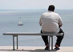 Übergewicht Mensch