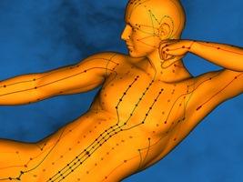 Behandlung Akupunkt-Massage Meridiane