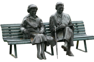 Gehstock alt senioren bank , Bewegungsmangel im Alter