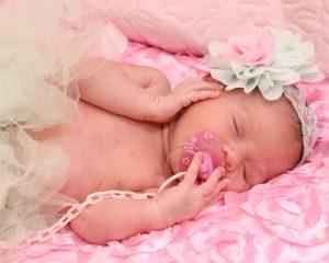 Schnuller Luller Baby Neugeborenes Rosa Schleife