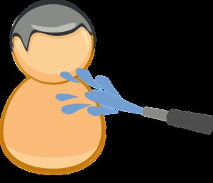 Munddusche Wasser Schlauch Männchen