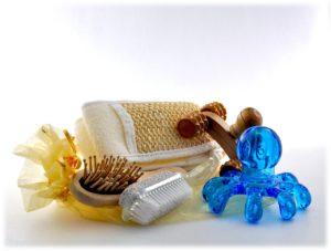 Massagegeräte bürste oktapus baden massage wellness bad verwöhnung holz