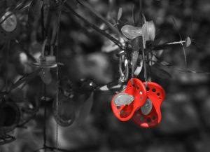 Schnuller Luller Baby Rot Schwarzweiß