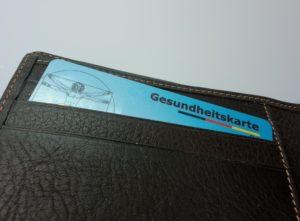 Krankenkasse Gesundheitskarte Portemonnaie