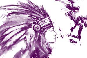 ohrenkerze ohrkerze indianer mädchen skizze traumfänger