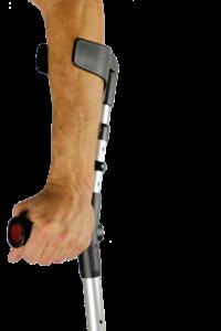 Krücken Gehhilfe Griff Hand