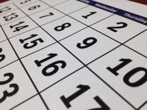 3D Diät Kalender Tagte Monat Woche