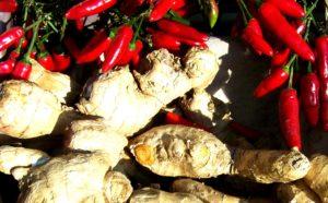Chili und Ingwer Diät