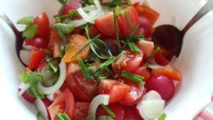salad tomate radieschen zwiebel möhren karotten dukan diät