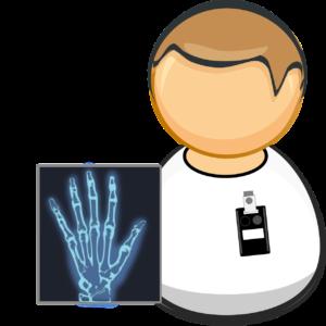 Hand Rötngenaufnahme X ray Arzt Radiologe Handchirurgie Röntgen