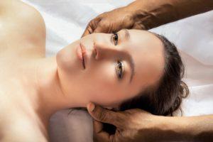 Facial Harmony gesicht, massage, frau, kopf