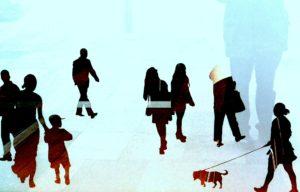 Familienaufstellung menschen ansammlung gruppe