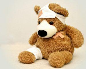 Verband Wunde VErletzung Erste Hilfe Teddy Bär Kinder
