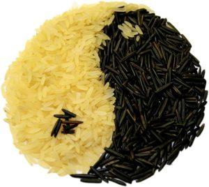reis , yin und yang , essen , lebensmittel , nahrungsmittel , nahrung , essbar , aisen