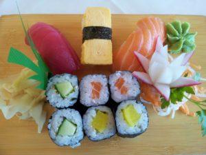 sushi , asiatisch , fisch , reis , asien , lebensmittel wasabi japanischer meerrettich