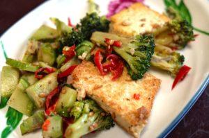 vegetarier , koreanisches essen , tofu , kochen , beilage , gemüse , essen fotografie , brokkoli , koreanisch