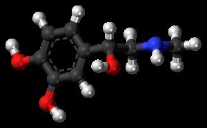 adrenalin , epinephrin , hormon , molekül , modell , struktur , chemie , wissenschaft , forschung , verbindung