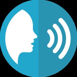 symbol sprachein - ausgabe , stimme , reden , audio , sprache , kommunikation , icon , ton , person sprechen , alexa , siri