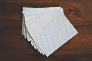 karteikarten , karten , papier, schule , lektion , lernen, erinnern