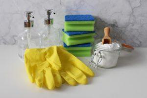 hanschuhe , reinigung , sauber , waschen , hygiene , reinigen , seife , haushalt , putzen , wischen , reinigungsmittel , hausarbeit , spender , natron , schwamm glasspender, Haushaltshilfe