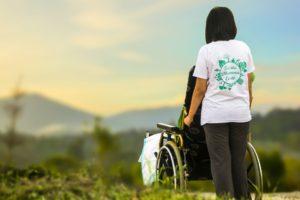 hospiz , pflege , krankenpflege , ältere menschen , patienten , krankenschwester , altenpflege , behinderung , behinderte , hilfe , schieben rollstuhl