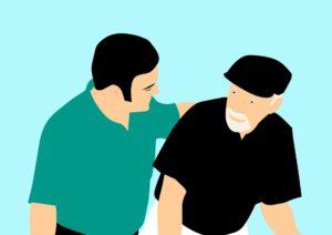patienten , ältere menschen , pflege , hilft , alte , alter , gesundheit , assist , mann , senior , wanderer , behinderung , hilfe , im ruhestand , lächelnd , abhängige , demenz , alzheimer , krankheit , menschliche , großvater , notwendigkeit der versorgung , konstant , die kosten für die pflege , verkalkung
