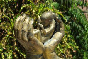 abtreibung , hand , hände , schützende hand , fötus , schutz , santo domingo , kirche , leben , baby , neugeboren, Schwangerschaft
