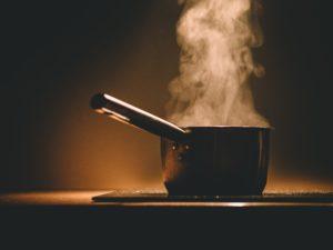 topf , dämpfen , heiß , kochen , küche , herd, erhitzen