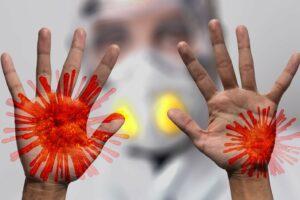 coronavirus , sars-cov-2 , virus , mundschutz , atemschutzmaske , maske , stempel , china , ausbruch , pandemie , weltweit , krankheit , 2019 - ncov , hände , übertragung