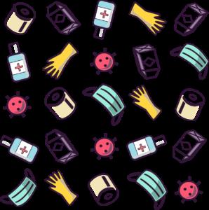 covid , covid-2019 , covid-19 , coronavirus , muster , tile , toilet paper , maske , handschuhe , sanitizier , nahtlose , medizinische , virus , pandemic , epidemie , sars-cov-2