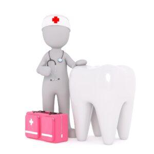 krankenschwester , krank , zahn , zahnarzt , stetoskop , erste hilfe , koffer, zahnarzt, zahnschmerzen, zahnfleischentzündung, Gingivitis