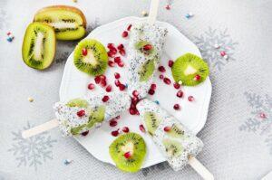 eis , samen , chia , chia-samen , kiwi , familie , dessert , obst , granatapfel, Chia Samen Eis Rezept