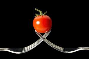 Forking ,  tomaten , gabeln , makro , essen , gesund , abnehmen, diät
