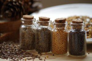 gewürze , pfeffer , kochen , senf , weiß , schwarz , kreuzkümmel , römischer kümmel , flasche ,