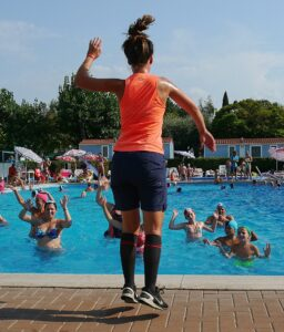 Wassergymnastik, Aquagymnastik, Fitness, Sport, Wasser, Schwimmbad, Pool, Training, Aeoribik