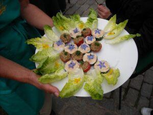 ein gemüse , chicorée , blätter , kohl , gewellte blätter , der anbau von , salat , green , garten ,